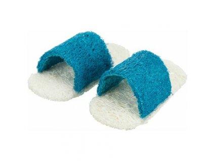 Set sandálů - 2ks, hračka pro hlodavce. lufa 8cm