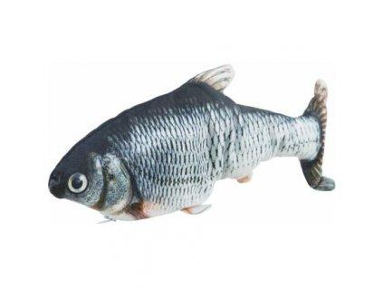 Ryba jako živá, mrskající se, s catnipem, látka, 30cm