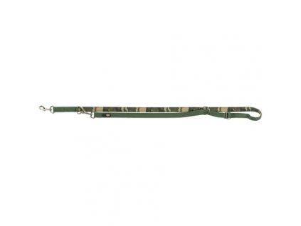 Vodítko PREMIUM, prodlužovací,neoprenové polstrování, L-XL: 2.00 m/25 mm, maskáč/prales