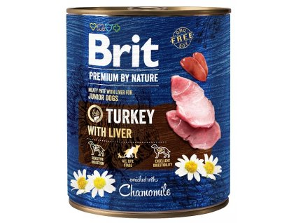 9000 brit premium by nature turkey with liver 800g 5 1 zdarma
