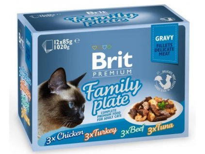 4476 brit premium cat delicate fillets in gravy familly plate 1020g 12x85g
