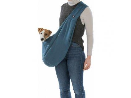 SOFT front carrier - přední látkové nosítko/taška, 22 x 20 x 60 cm, modrá/šedá
