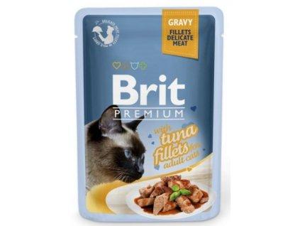 4461 brit premium cat delicate fillets in gravy with tuna 85g