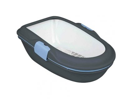 WC BERTO - dvojitá nádoba se sítem 59x39x22 cm, - šedá/pastelově modrá/žulová
