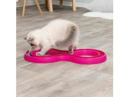 Hračka pro kočky, skládací dráha pro závod míčků 65x31 cm (RP 0,90 Kč)