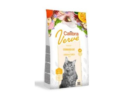 Calibra Cat Verve GF Sterilised Chicken&Turkey 750g