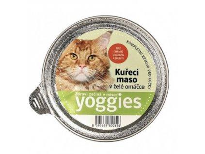 85g yoggies misticky s kurecim masem a zele omackou pro kocky