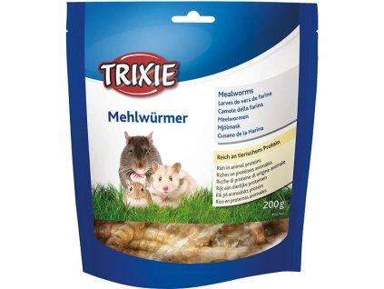MEALWORMS, mouční červi sušení, 200 g