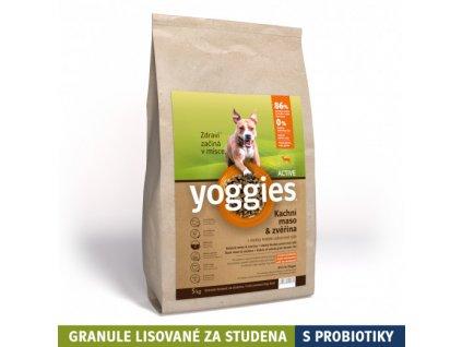 5 kg minigranule yoggies active kachna a zverina granule lisovane za studena s probiotiky