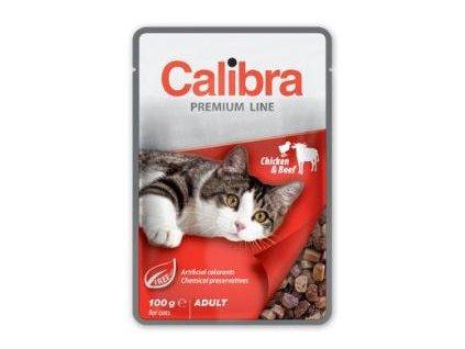 Calibra Cat kapsa Premium Adult Chicken & Beef 100g