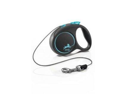 Vodítko FLEXI Black Design XS lanko 3m/8kg modrá