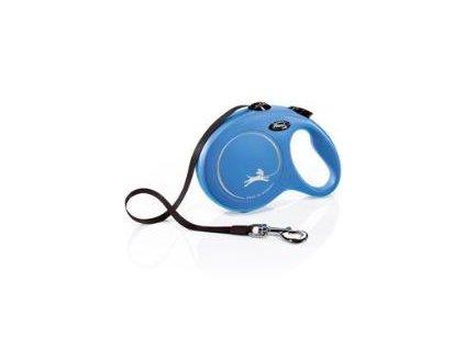 Vodítko Flexi Classic L 8m (max 50kg) pásek modrá