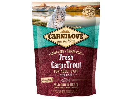 5232 carnilove cat fresh carp trout sterilized 0 4kg