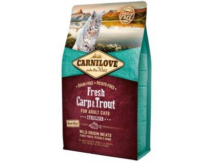 5229 carnilove cat fresh carp trout sterilized 2kg