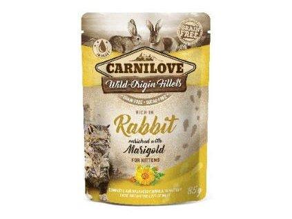 Carnilove Cat Pouch Kitten Rabbit & Marigold 85g