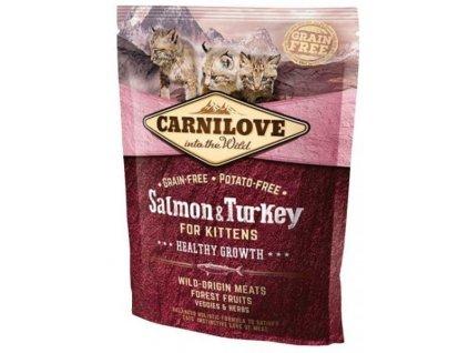 3753 carnilove cat salmon turkey for kittens 400g