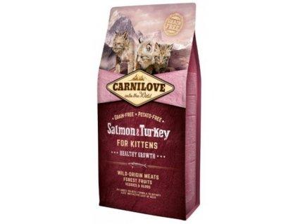 3789 carnilove cat salmon turkey for kittens 6kg