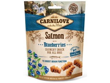 5244 carnilove dog crunchy snack salmon blueberries 200g