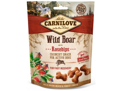 5241 carnilove dog crunchy snack wild boar rosehips 200g