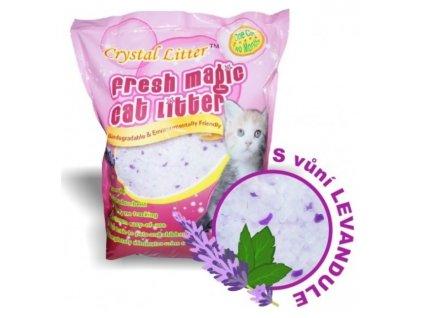 3057 crystal cat litter s vuni levandule 10 litru