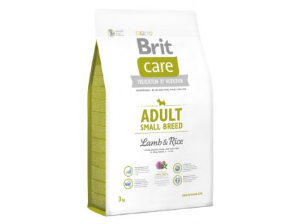 3516 new brit care adult small breed lamb rice 3kg