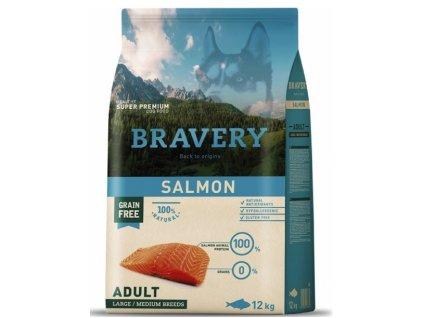 BRAVERY dog ADULT Large / Medium Grain Free salmon 12kg | Tenesco.cz
