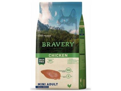 BRAVERY dog ADULT MINI Grain Free chicken 2kg   Tenesco.cz