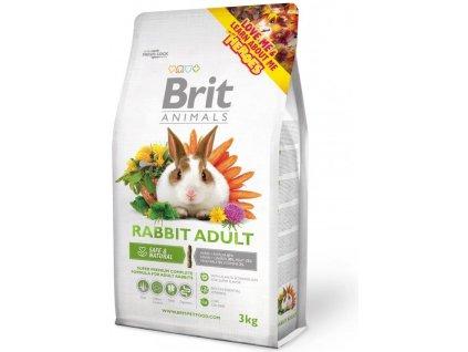 2736 brit animals rabbit adult complete 3kg