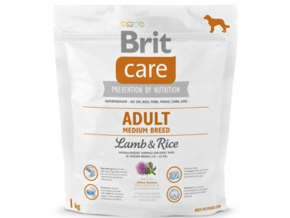 3528 brit care adult medium breed lamb rice 1kg
