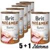 Brit Paté & Meat Rabbit 400g 5+1 zdarma
