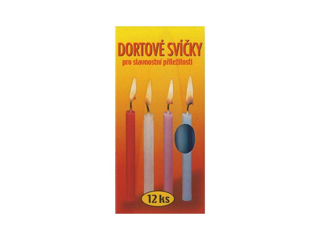 Dortové svíčky 12 ks
