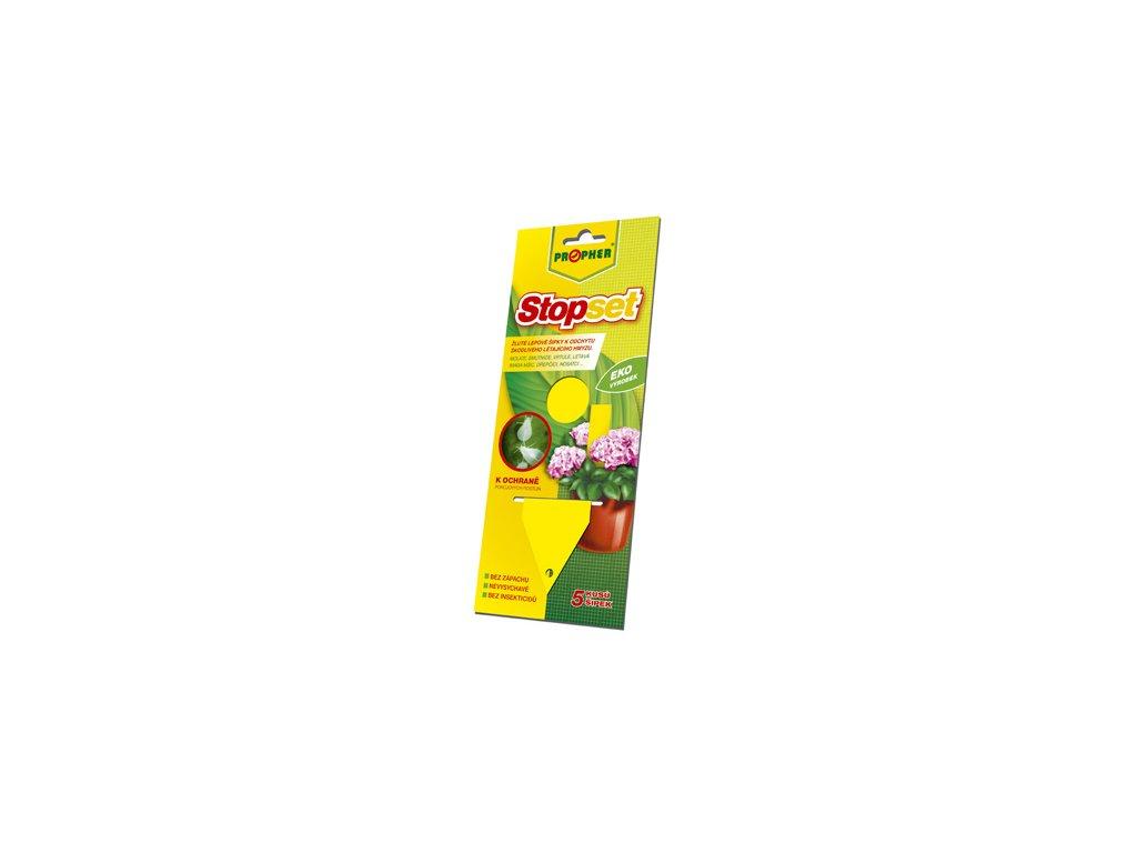 STOPSET - žluté šipky 14 x 5 cm 5 ks