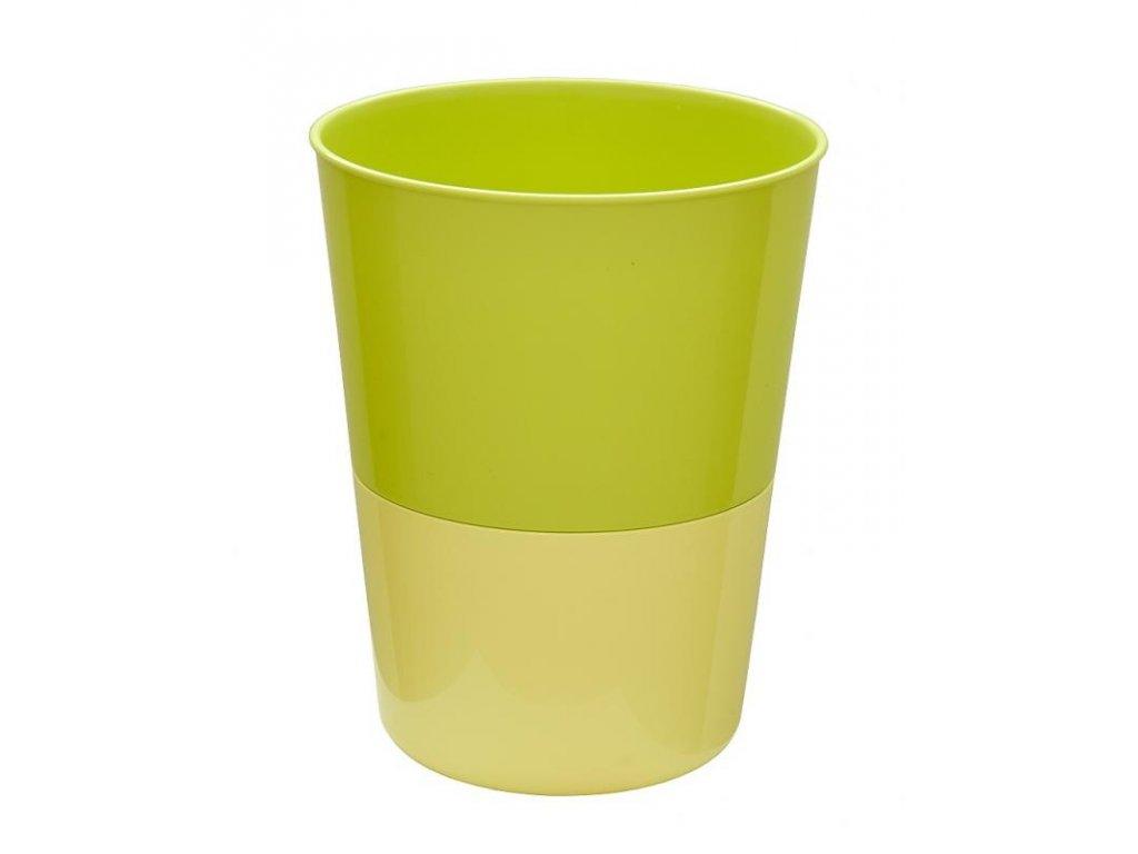 PLASTIA květináč Rosmarin ø 11 cm žlutá + zelená