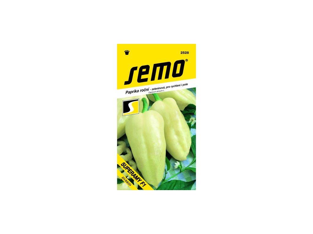 SEMO Paprika roční - zeleninová, pro rychlení i pole SUPERAMY F1