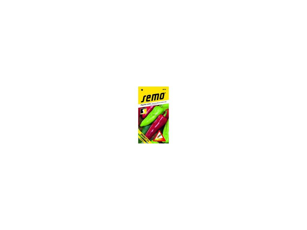 SEMO Paprika roční - zeleninová, pálivá, pro rychlení i pole DRÁKY F1