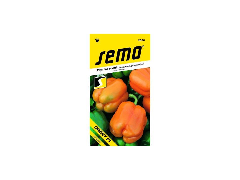 SEMO Paprika roční - zeleninová, pro rychlení ORENY F1