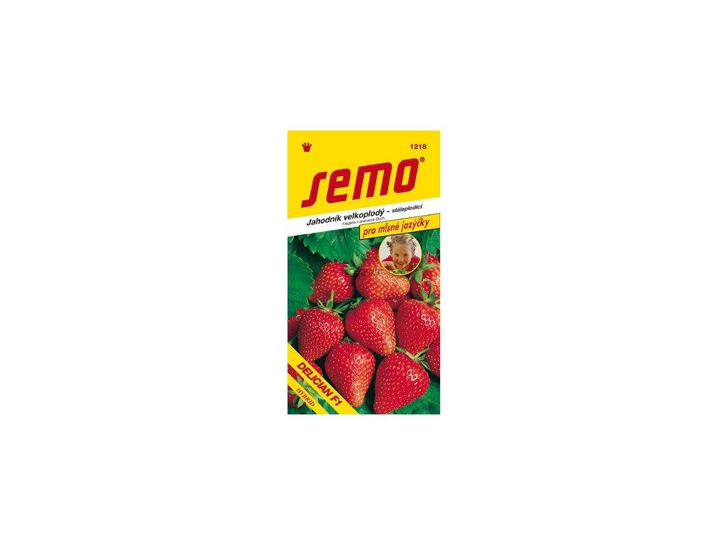 SEMO Jahodník velkoplodý - stáleplodící DELICIAN F1 pro mlsné jazýčky
