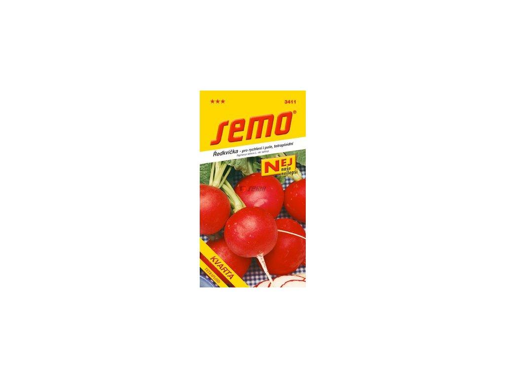 SEMO Ředkvička - pro rychlení i pole, tetraploidní KVARTA