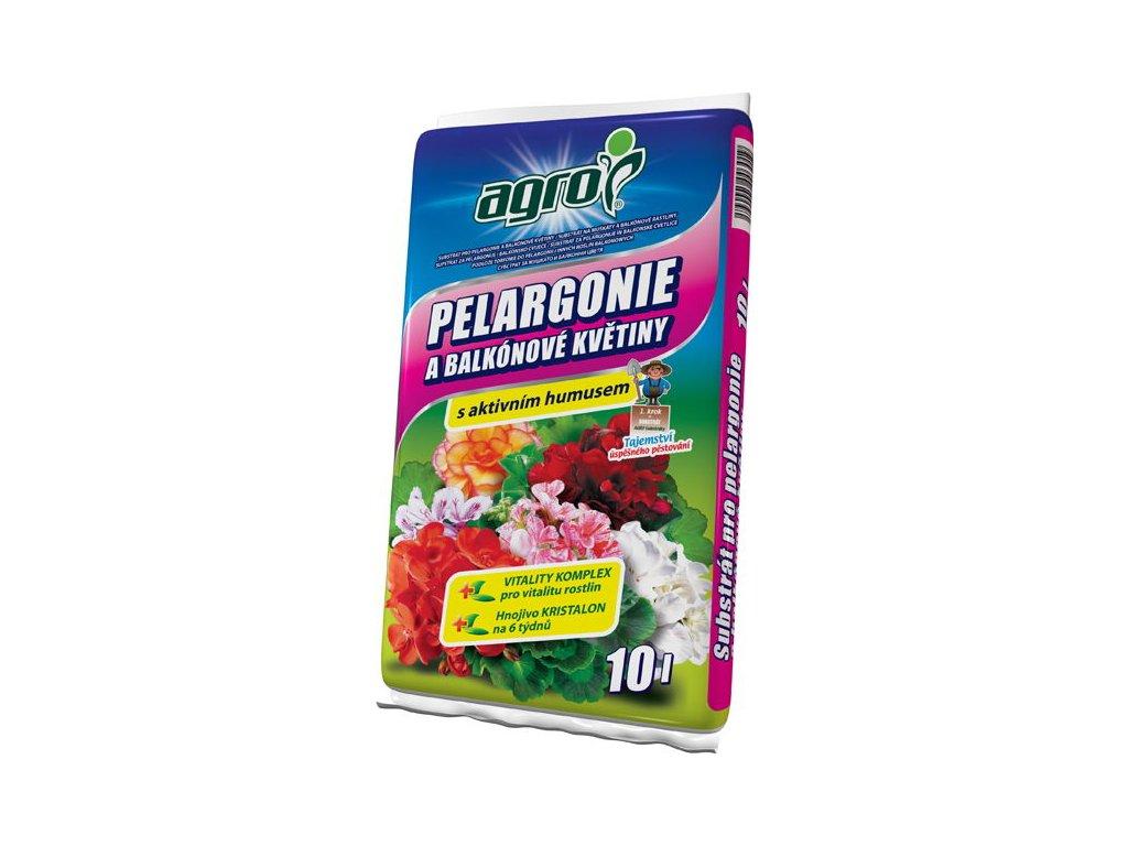 AGRO Substrát pro pelargonie a balkónové květiny