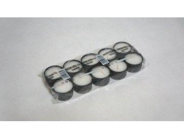 Hřbitovní svíčka 32 g černý kalíšek (lumina) 10 ks