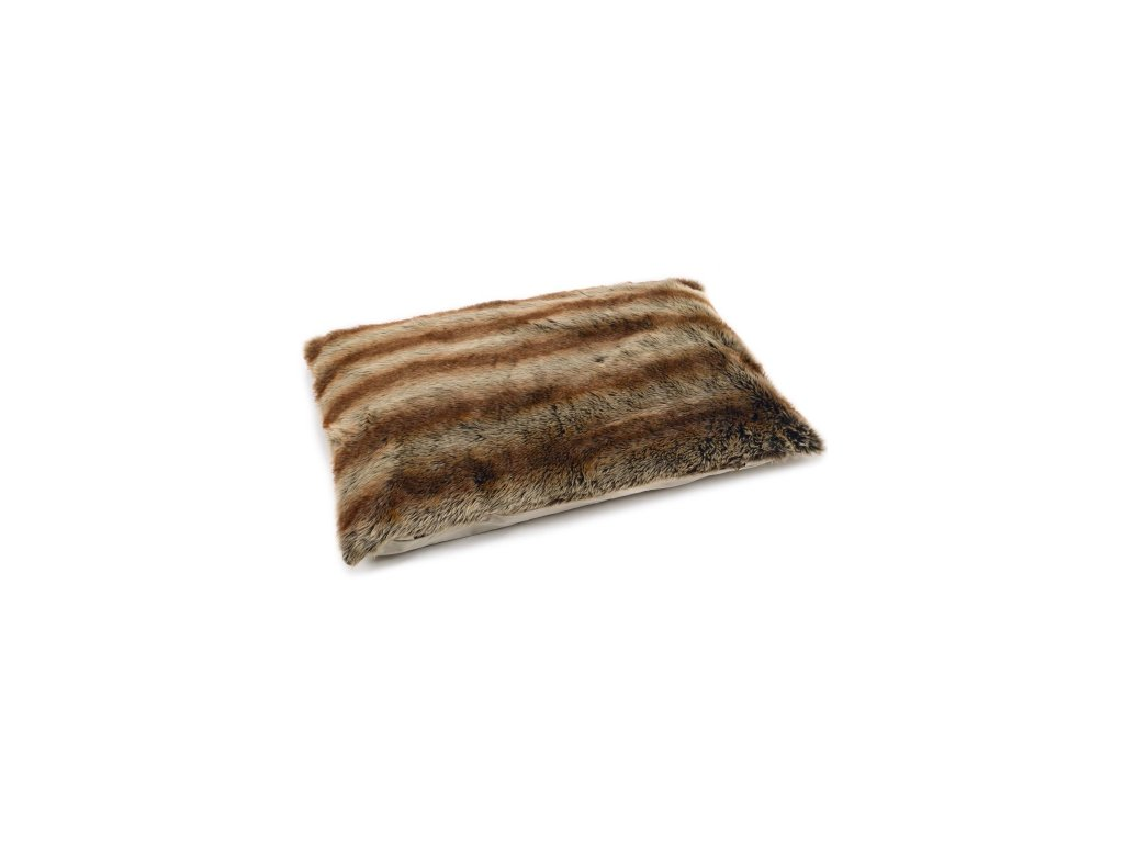 Matrace pro psy hnědý s chlupem Lezy
