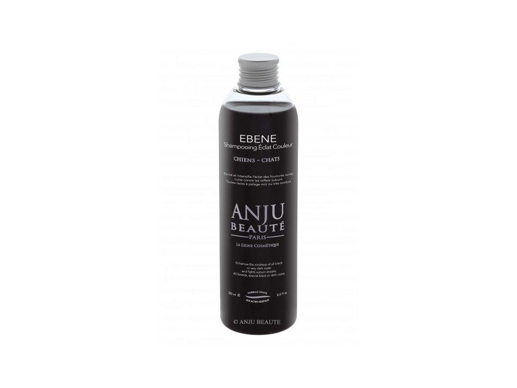 Šampon pro psy a kočky pro zářivě černou srst Anju Beauté Ebene 250 ml