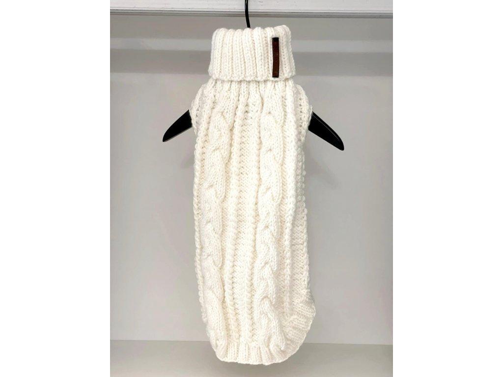 Merino svetr pro fenky a kočky bílý