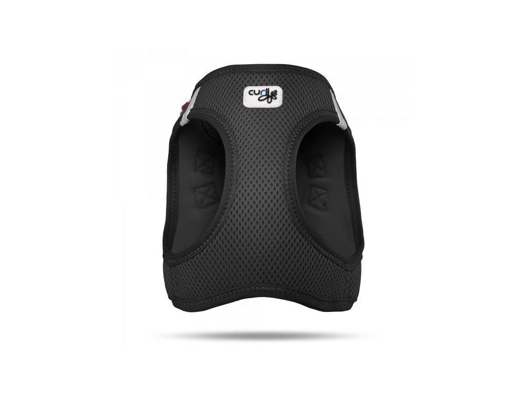 Postroj pro psy a kočky Curli Plush Vest Air-Mesh černý