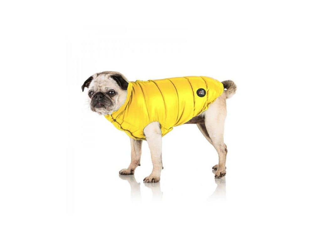 Péřový kabát pro psy Zafferano