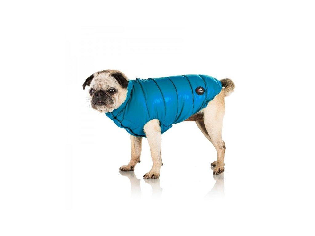 Péřový kabát pro psy Blu Curacao