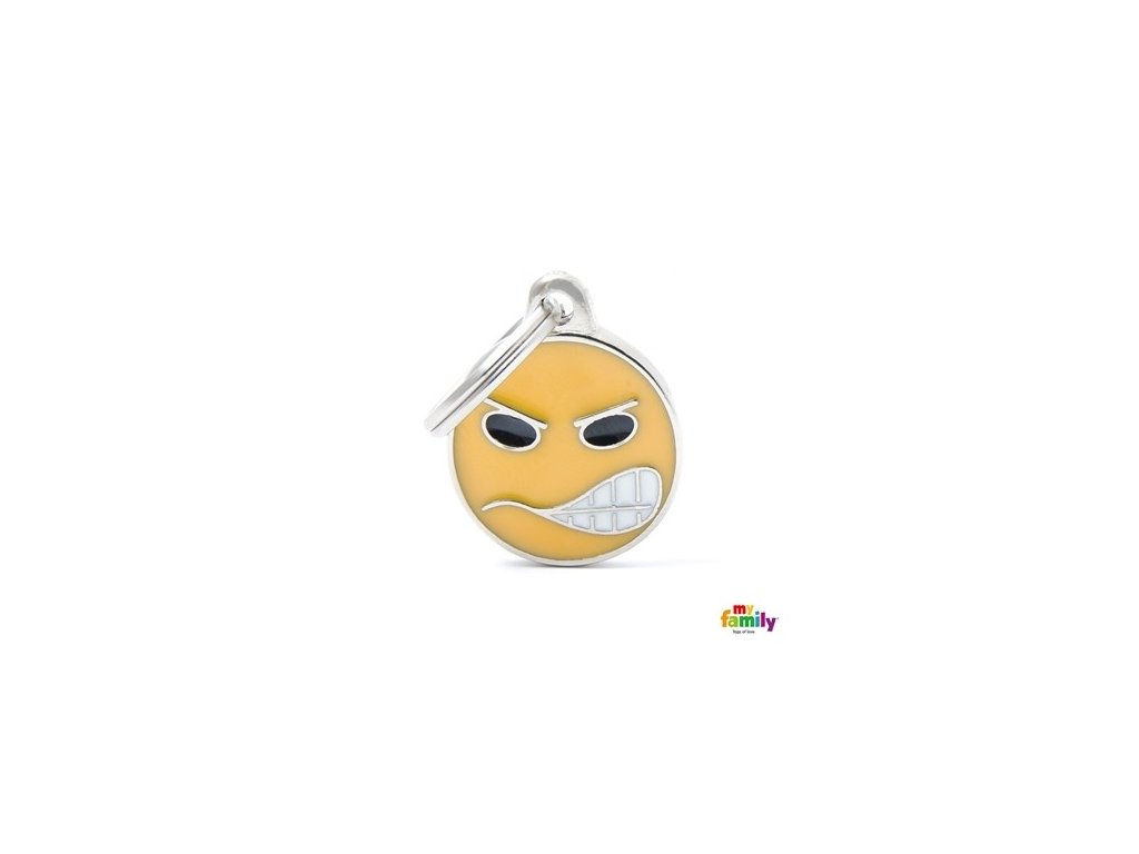 Psí známka Emotikon Angry