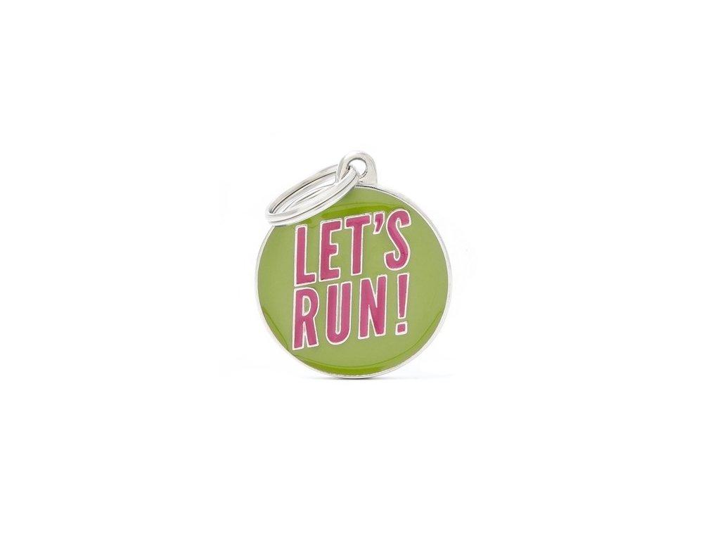 Psí známka Let's run!