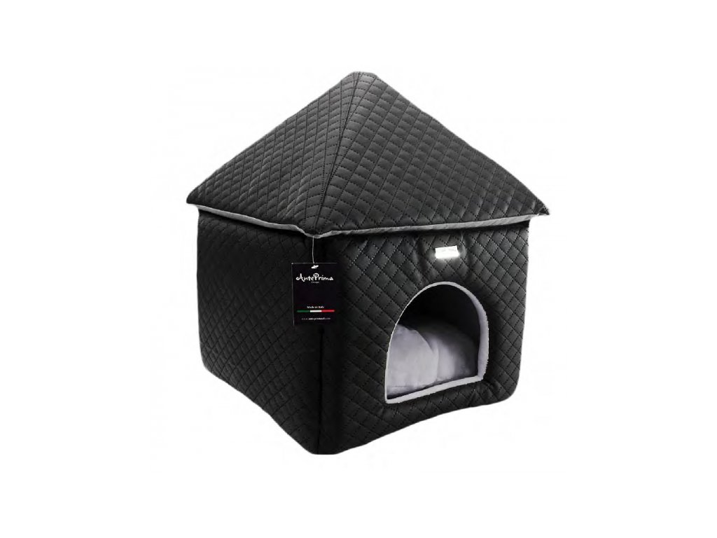 Domeček pro psy Chateaux černý, bílý