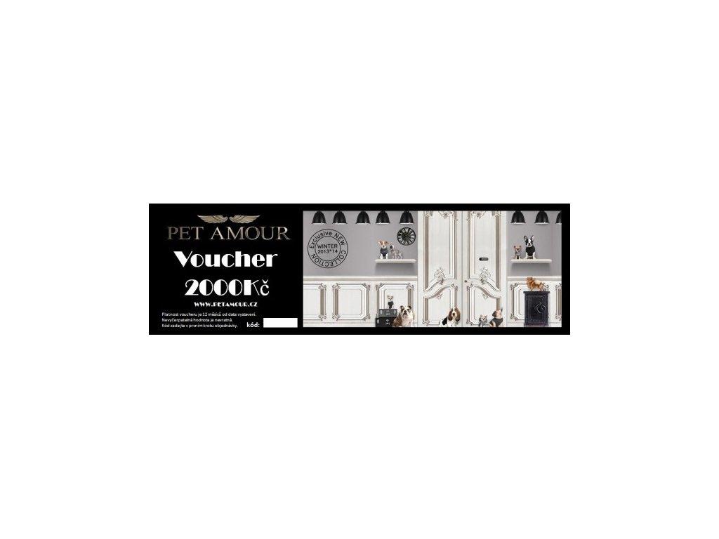 Voucher Pet Amour v hodnotě 2000 Kč